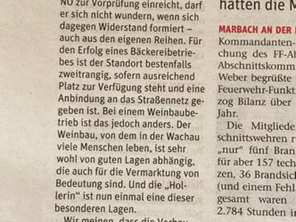 Leserbrief von Vizebürgermeister Emmerich Knoll (ÖVP), Johann Redl (SPÖ) und Helmuth Weiss (FPÖ).