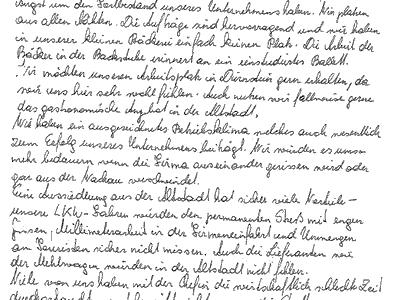 Mitarbeiter schreiben Brief